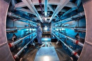The National Ignition Facility preamplifiers. Credit: LLNL