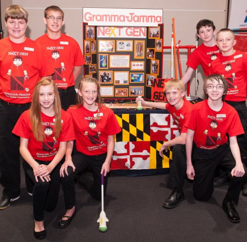 2013 First Lego League Global Innovation Award winners, the NeXT GEN Team